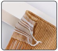 как вешать нитяные веревочные шторы