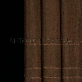 Штора мешковина с вышивкой Konsta 5