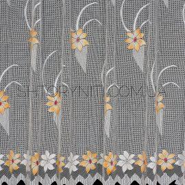 Короткая тюль с цветами Natans 1